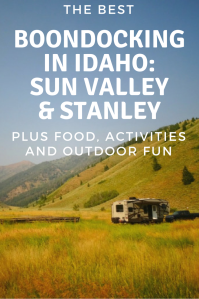 Boondocking in Sun Valley, Idaho. Boondocking in Stanley, Idaho. Boondocking in Ketchum, Idaho. All you need to know to successfully boondock or visit Sun Valley Idaho.