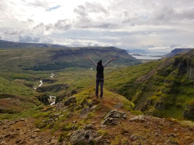 Hiking to Glymur Waterfall, Iceland